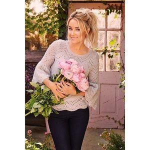 LC Lauren Conrad Eyelet Popover Sweater